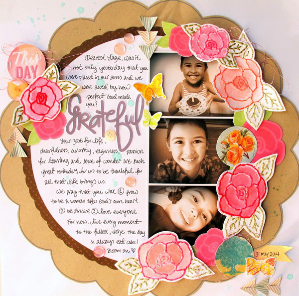 Grateful, @Colortypes Sophie @CliqueKits, #cliquekits #scrapbooking #DIY #CKhomecoming