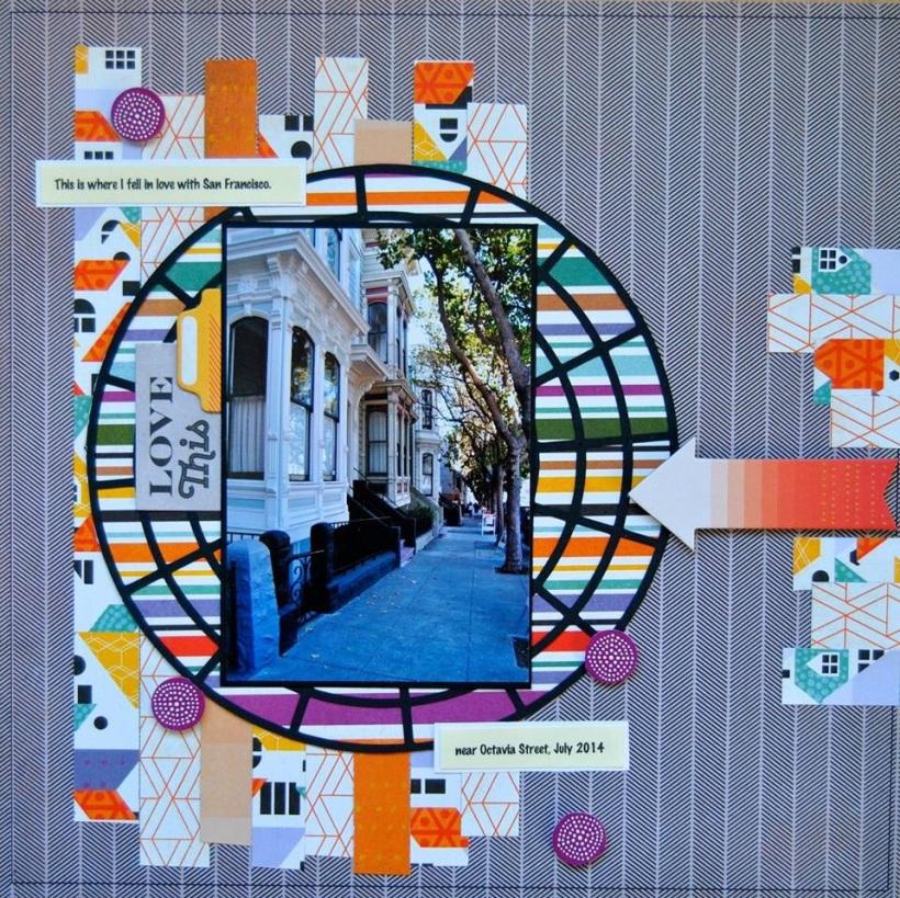 @stephaniejoanna @cliquekits, #cliquekits #inspiration #ckmasqueradeball #octoberkit #scrapbook #card #DIY #basicgrey #secondcity