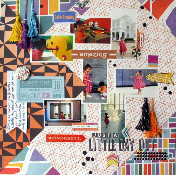 Little Day Out, @Colortypes Sophie @cliquekits, #cliquekits #scrapbooking #DIY #masqueradeball