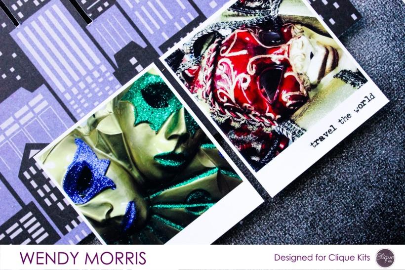 The Big Easy, @Wendy Morris @cliquekits, #cliquekits #scrapbooking #DIY #ckmasqueradeball