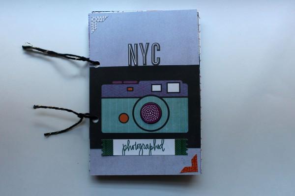 NYC Album cover, @alizadeutsch @cliquekits #cliquekits #scrapbooking #masqueradeball