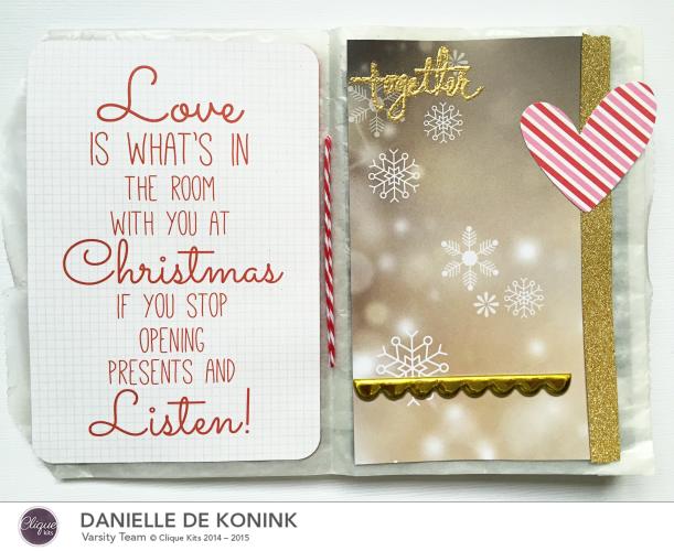 Holiday memories mini album, @Danielle de Konink, @Cliquekits, #cliquekits #scrapbooking #DIY #CliqueintotheHolidays