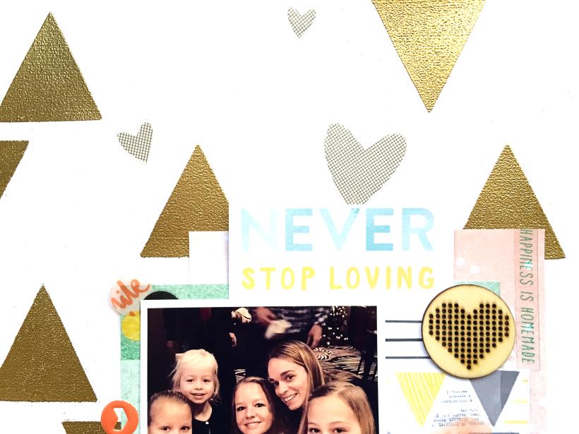 Love us layout, @Danielle de Konink, @Cliquekits, #cliquekits #scrapbooking #DIY #CKTailorMade