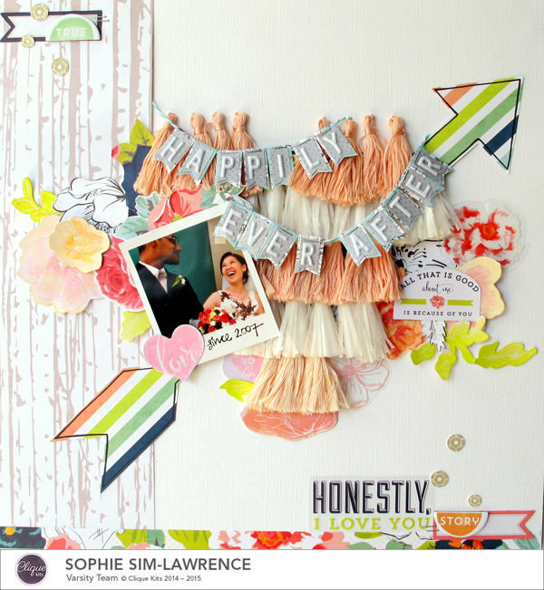 Happily Ever After, @Colortypes Sophie @ Cliquekits, #cliquekits #scrapbooking #DIY #CKenchantedmeadow