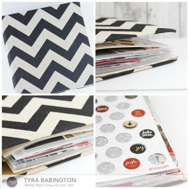 Tyra Babington Clique Kits December Journal Feature