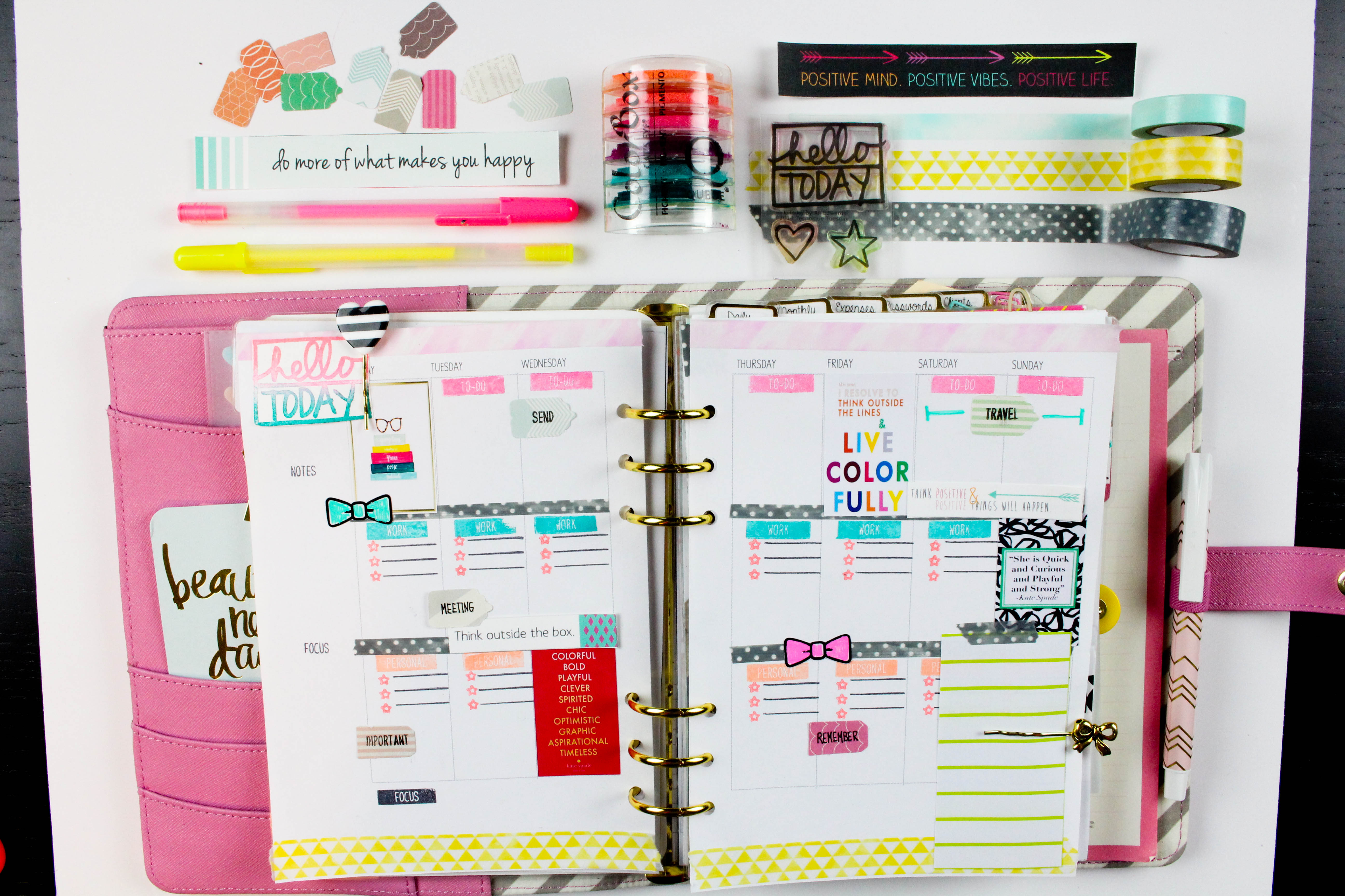 Planner Pages With Tiffany Clique Kits