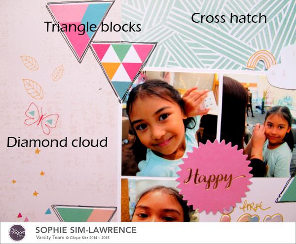 Happy 2015 words, @Colortypes Sophie @Cliquekits, #cliquekits #scrapbooking #DIY #ckhappyeverything