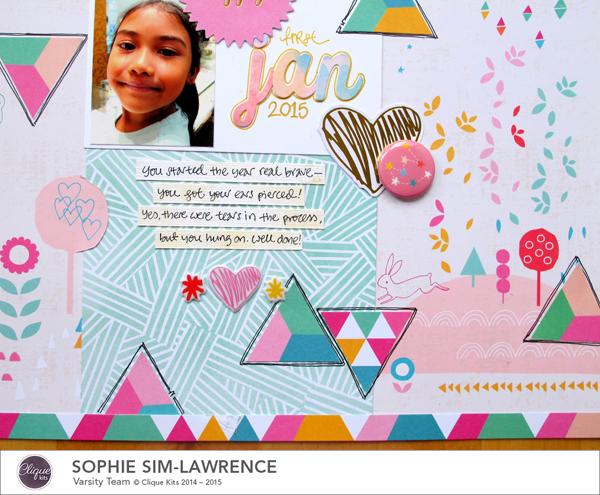 Happy 2015 4, @Colortypes Sophie @Cliquekits, #cliquekits #scrapbooking #DIY #ckhappyeverything