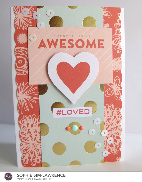 My Minds Eye Awesome Card FN, @colortypesink @cliquekits, #cliquekits #DIY #inspiration #ckcardspring