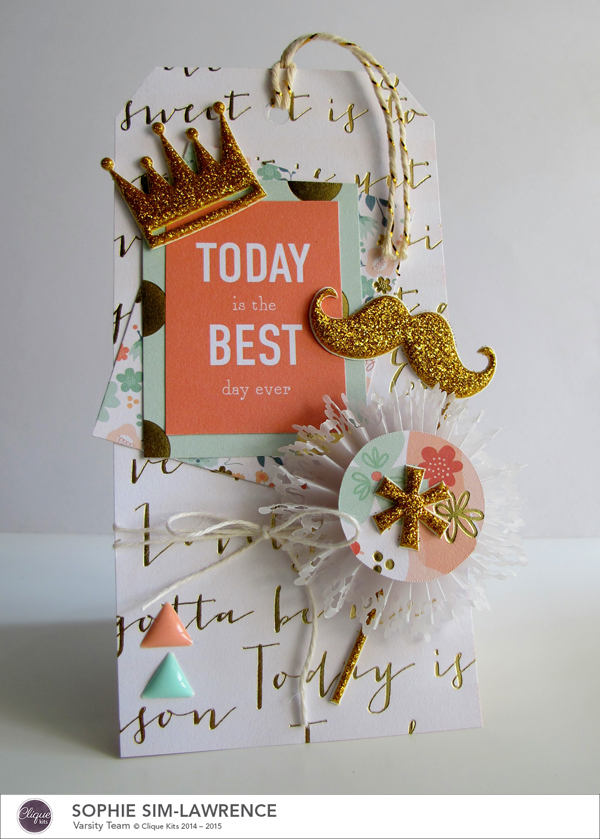 My Minds Eye Best Day Tag FN, @colortypesink @cliquekits, #cliquekits #DIY #inspiration #ckcardspring