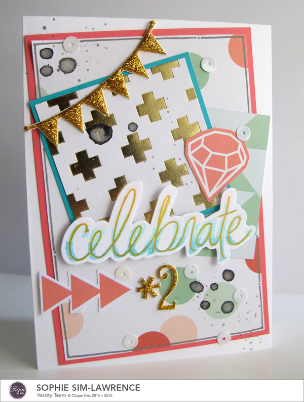 My Minds Eye Celebrate 2 FN, @colortypesink @cliquekits, #cliquekits #DIY #inspiration #ckcardspring