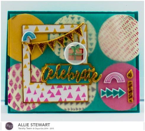 Celebrate Card_Pinkfresh Studio_Allie Stewart