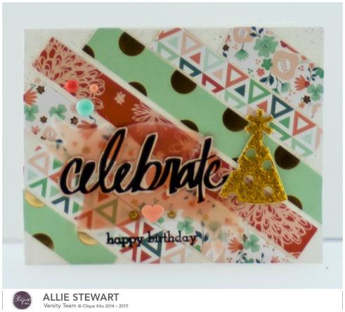 Celebrate Party Hat Card_My Minds Eye_Allie Stewart