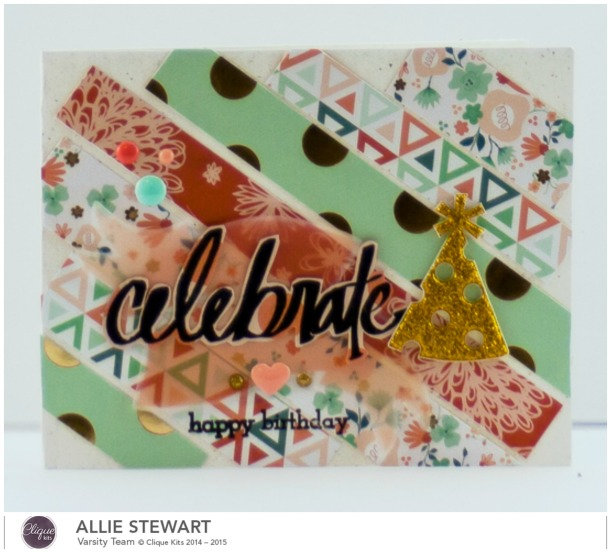 Celebrate Party Hat Card_My Minds Eye_Allie Stewart