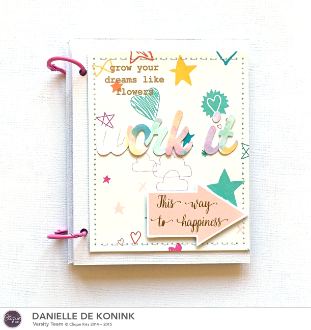 Work it mini album, @DanielledeKonink, @Cliquekits, #cliquekits #scrapbooking #DIY #CKApril