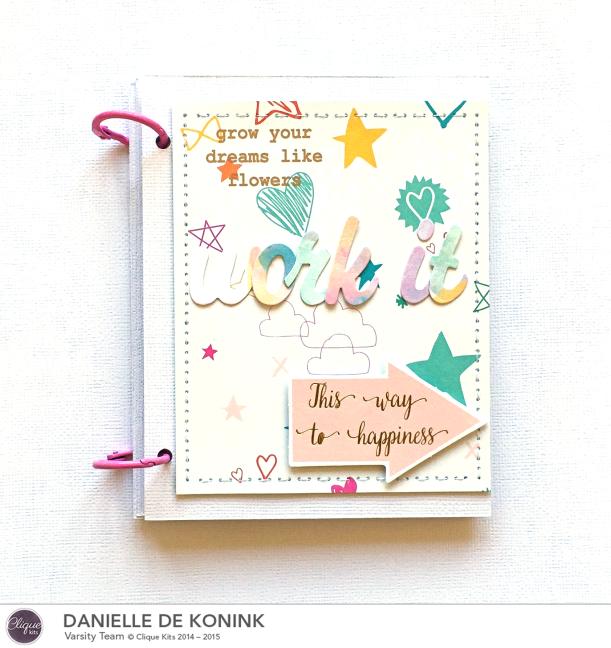 Work it mini album, @DanielledeKonink, @Cliquekits, #cliquekits #scrapbooking #DIY #CKApril