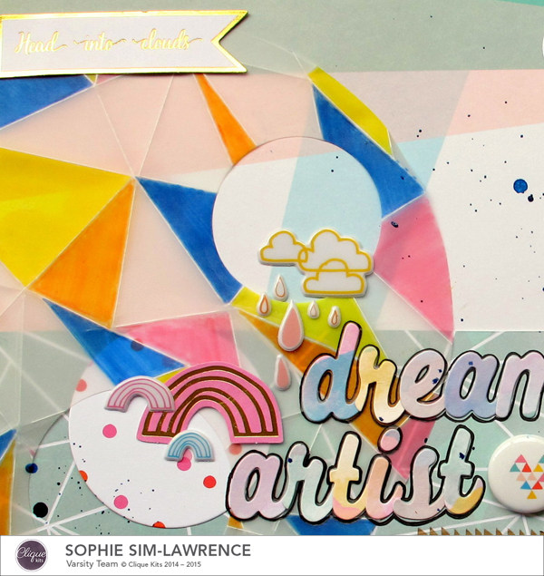 Dream Artist 1, @colortypes sophie @cliquekits, #cliquekits #scrapbooking#DIY #ckhappyeverything