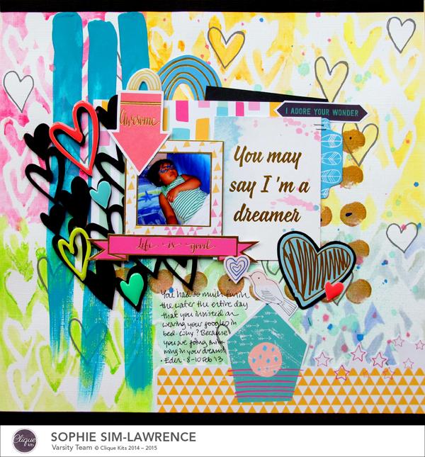 Dreamer, @colortypes sophie @cliquekits, #cliquekits #scrapbooking#DIY #ckhappyeverything