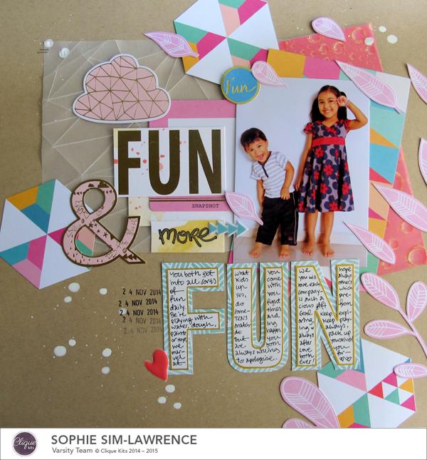 Fun Fun Fun, @colortypes sophie @cliquekits, #cliquekits #scrapbooking#DIY #ckhappyeverything