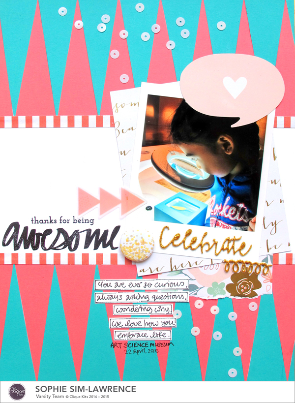 Being Awesome FN, @colortypes sophie @ cliquekits, #cliquekits #cliquecardsspringedition #papercraft #inspiration #DIY #scrapbooking