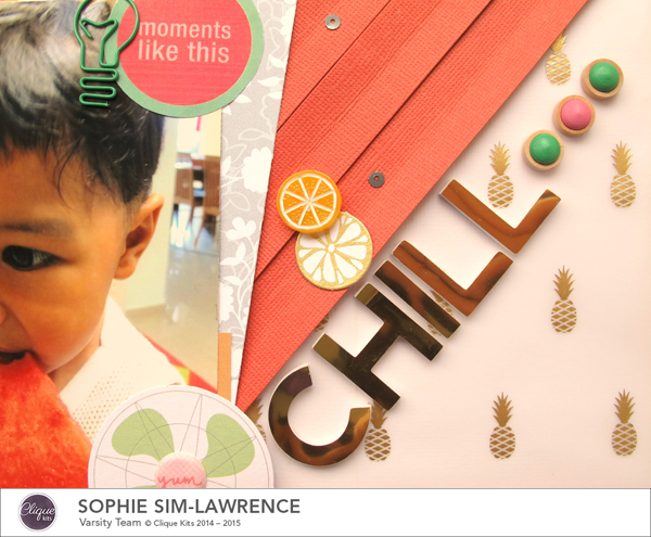 Chill 3 FN, @colortypes sophie @clique kits @pinkpaislee, #cliquekits #inspiration #scrapbooking # pinkpaislee #papercraft