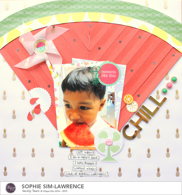 Chill FN, @colortypes sophie @clique kits @pinkpaislee, #cliquekits #inspiration #scrapbooking # pinkpaislee #papercraft
