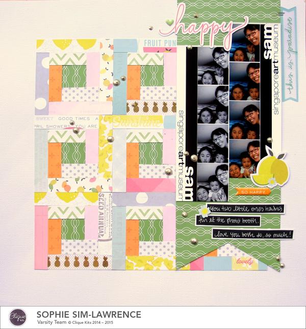Happy FN, @colortypes sophie @cliquekits, #cliquekits #ckambrosia #pinkpaislee #scrapbooking #papercraft