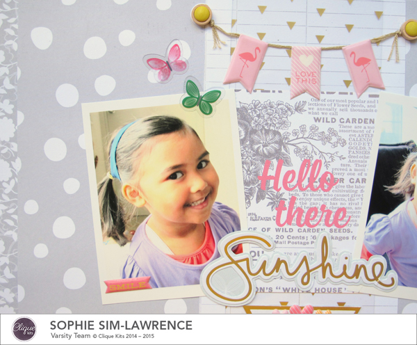 Hello There Sunshine 1 FN, @colortypes sophie @clique kits @pinkpaislee, #cliquekits #inspiration #scrapbooking # pinkpaislee #papercraft