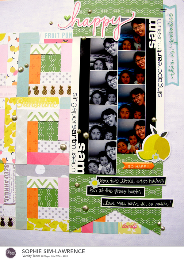 Happy 2 FN, @colortypes sophie @cliquekits, #cliquekits #ckambrosia #pinkpaislee #scrapbooking #papercraft