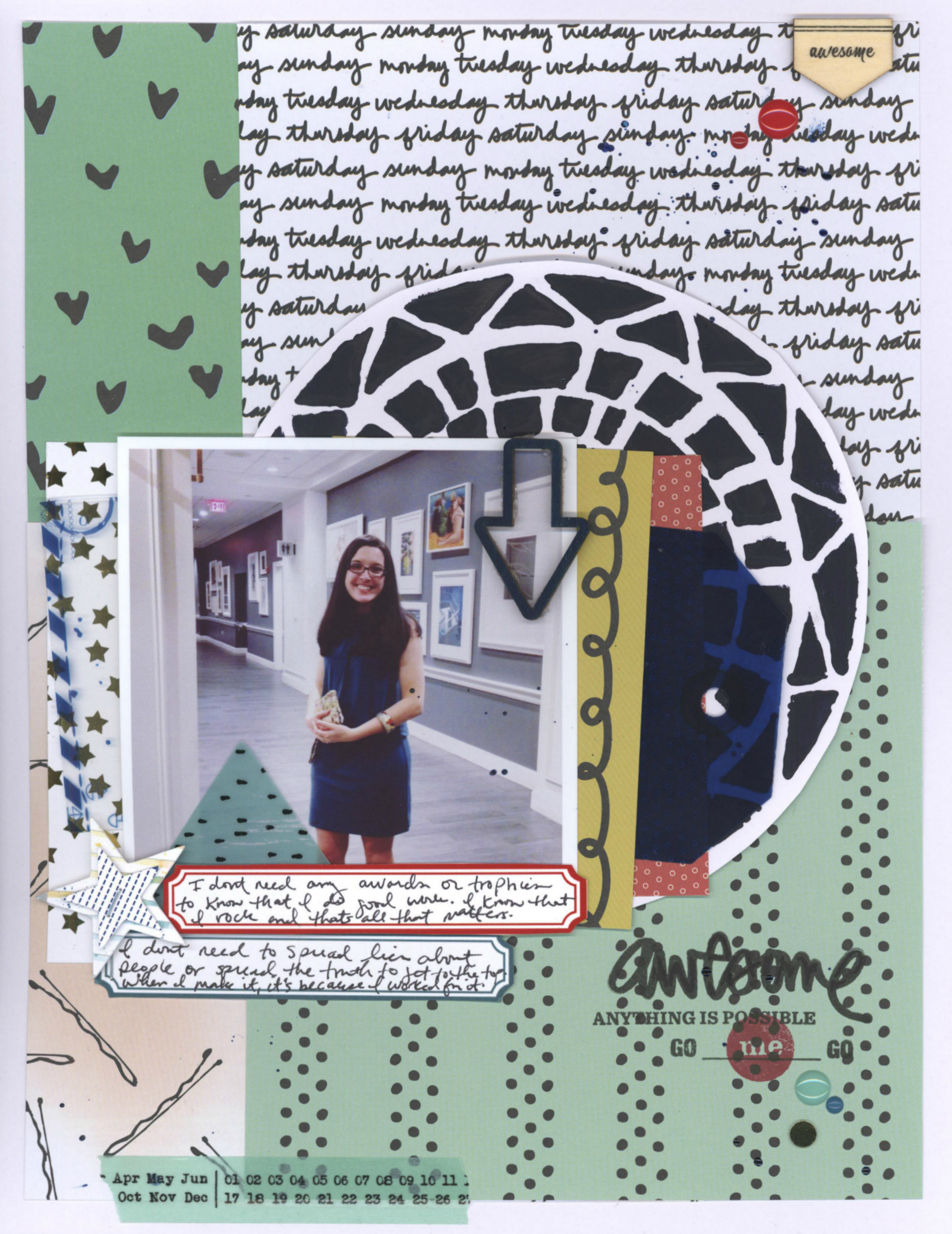 awesome_becky higgins project life_pretty little studio_The crafter's workshop_nicole martel_layout_ali edwards storykit_stamping
