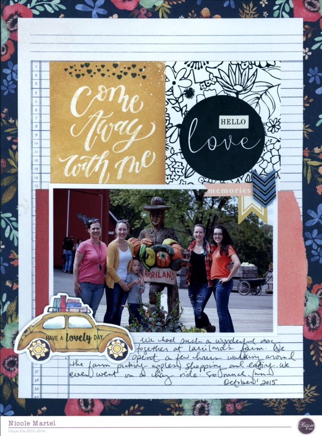 come away with me_clique kits_We R Memory Keepers_layout_nicole martel