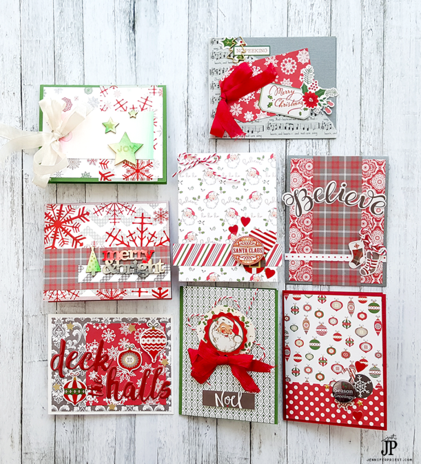 Fast-Christmas-Cards-Make-8-Cards-in-30-Minutes-Clique-Kits-Tombow-USA-Jpriest