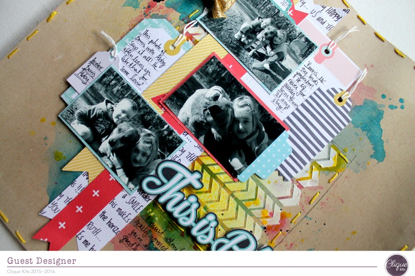 this is bliss layout by Bernii Miller for Clique Kits Alegria Kit. 2