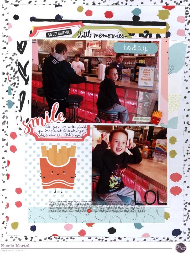 Little memories today_Clique Kits_Studio Calico Goldie_Nicole Martel_layout