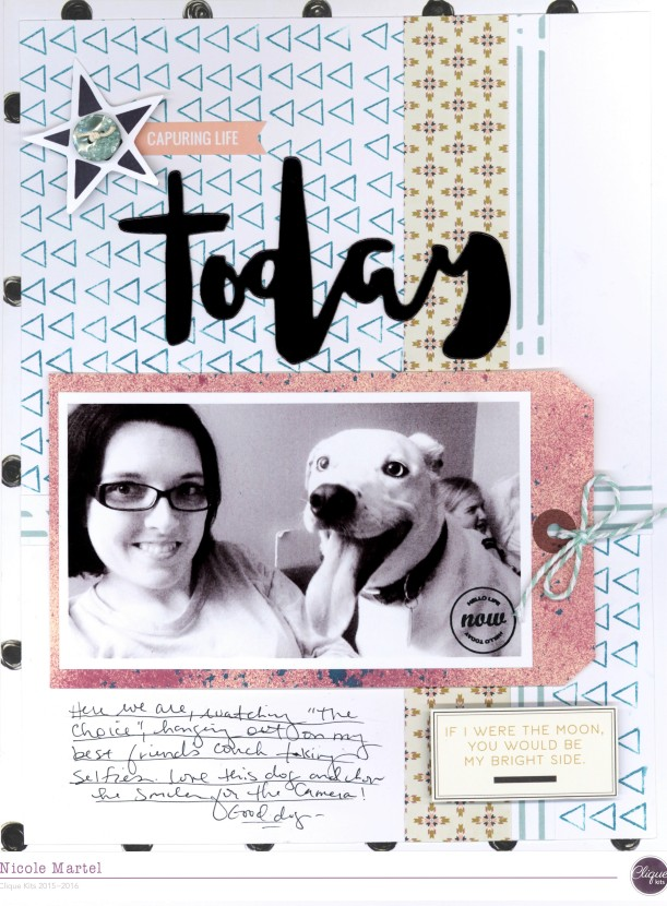 capturing life today_clique kits_Kaisercraft_layout_precious remembrance_may arts_kesi art_layout