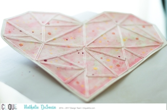 A few splatters of Metallic Prima watercolor were also added to the center of the heart